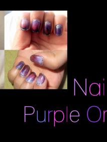 Nail Art Purple Ombre Stiletto Sharp Style
