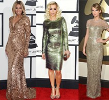 gold-sparkle-dress-at-2014-grammys
