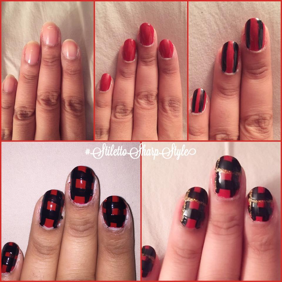 ruby plaid manimonday